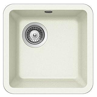 Schock Solido N-75 1.0 Bowl Granite Alpina White Undermount Kitchen Sink & Waste