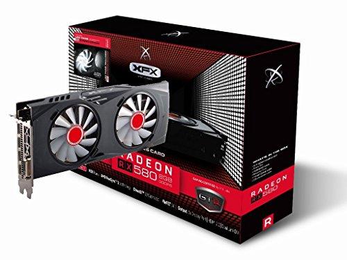XFX RX-580P8DFWR - Grafikkarte Radeon RX 580 GTR XXX 1366MHz 8GB PCI Express, Schwarz