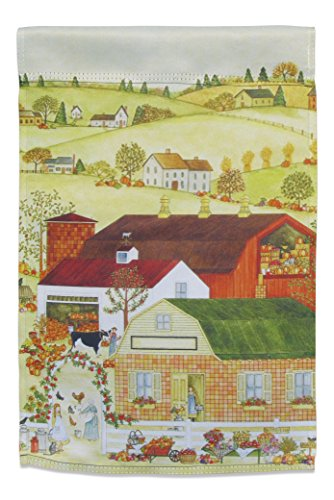 Primitiv Americana Garten Flagge; Fall Dekoration; Country Herbst Ernte mit Pumpkin Patch und Betrieb; 30,5cm von 45,7cm
