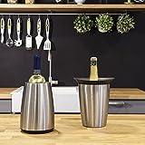 Vacu Vin – 3649360 – Aktiv Weinkühler Elegant Edelstahl - 3