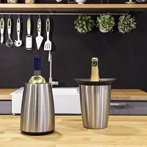 51cHa%2B2I3TL - Vacu Vin - 3649360 - Aktiv Weinkühler Elegant Edelstahl