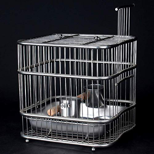 XWYGW Haustierbett Cage Indoor Vogelzuchtkäfig Vogel Upgrade-Metall Durable Vogelkäfig Vogelkäfig-Rock-Klassiker Papageienkäfig, Geeignet for Parrot/Vogel/Sittich -