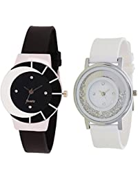 SPINOZA Analogue Multi-Colour Black White Fancy Beautiful Glass Watch With Movable Crystals In Dial Fancy And...