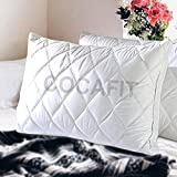 Home Beautiful Gusseted Queen Hypo Allergenic Quilted Pillow (Size 17 x 27) Pack