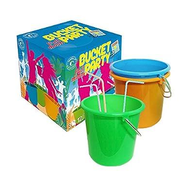 Original Cup Coffret Full Moon Party - 3 Buckets de 1,5L - 12 Pailles Fluo Multicouleur