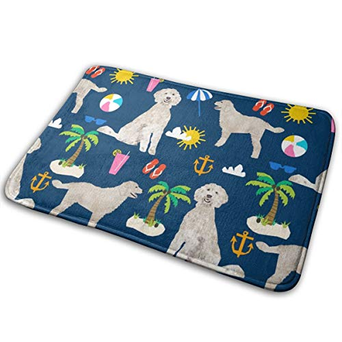 Huabuqi Goldener Gekritzel Hund Strand Sommer Stoff Doodle Fabric_770 Badematte Rutschfeste saugfähige Super gemütliche Bad Wolldecke Decor 15,7