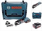 Bosch GOP 18 V-28 Professional Brushless Akku Multi Cutter Multifunktions Werkzeug mit Starlock Plus in L-Boxx mit 1x GBA 5,0 Ah Akku