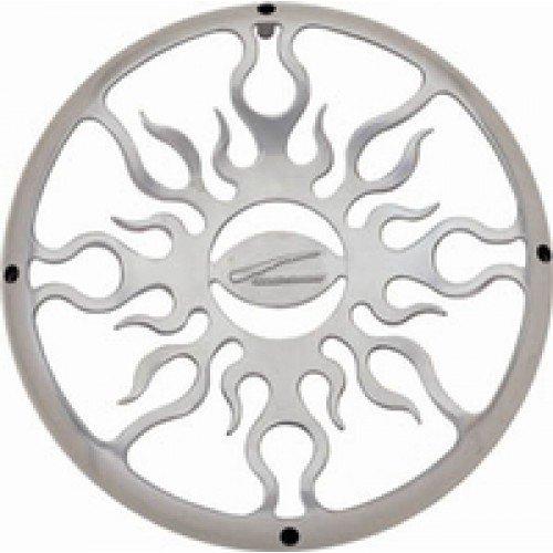 Audiobahn AFG15, 38cm Flame Grill aus poliertem Aluminium, 1 Stück Aluminium-subwoofer Grill