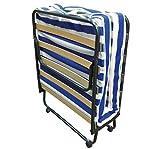 Baldiflex Dali - Cama plegable con colchón de poliuretano expandido ortopédico (10cm, somier de láminas, 80x 190cm)