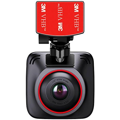 """BC Master Cámara para Coche 1080P, Dash Cam 170°Gran Ángulo, Cámara para Coche, G-Sensor, Ciclo de Grabación, Visión Nocturna, 2.0 """"LCD gran ángulo Coche Registrador de Cámara"""