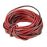 Cavo elettrico, 10m di spessore filo elettrico di collegamento rosso nero rame auto 2cavi a bassa tensione filo per striscia LED monocolore bobina di cavo di prolunga