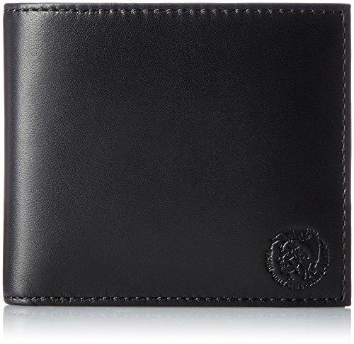 DIESEL Herren Geldbörse, Echt Leder, HIRESH S, (11x9,5x2cm) - Braun o. Schwarz: Farbe: Schwarz