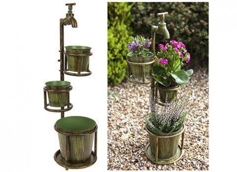 3-tap-vintage-verdigris-rustic-metal-garden-bucket-planter-flower-plant-stand-pot