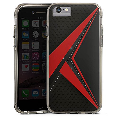 Apple iPhone X Bumper Hülle Bumper Case Glitzer Hülle Carbon Edel Man Bumper Case transparent grau