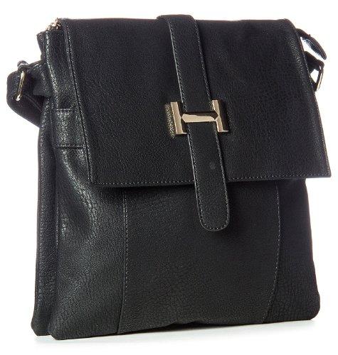 Big Handbag Shop, Borsa a spalla uomo One z** Seconds - Black