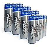 Ex-Pro Power Plus+ Lot de 16 piles Ni-Mh AA rechargeables 2900mAh