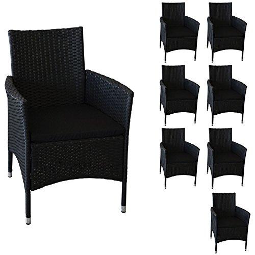 8 Stuck Polyrattan Sessel Rattansessel Rattanstuhl Gartensessel