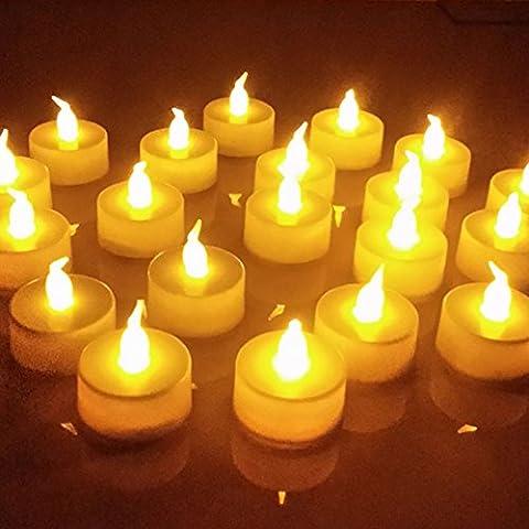 Gladle Flameless LED Tea Light Candles, Bougies de LED Tealight non parfumées à piles