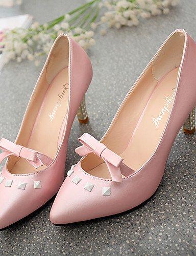 WSS 2016 Chaussures Femme-Bureau & Travail / Décontracté / Soirée & Evénement-Noir / Rose / Blanc-Talon Aiguille-Talons / Bout Pointu-Chaussures à pink-us6 / eu36 / uk4 / cn36