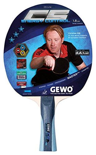 GEWO Erwachsene Schläger CS Energy Control konkav/Entwickelt von Christian Süß Tischtennisschläger Grau/Blau
