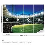 Fußball Stadion Sport Fototapete Wandbild Fototapeten Bild Tapete Papier (KEIN VLIES) (323WS)