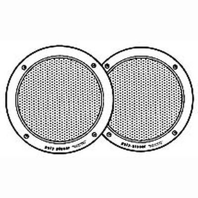 6'' Round Flush-Mount Marine Speakers (Pair) by Poly-Planar Flush Mount Speakers