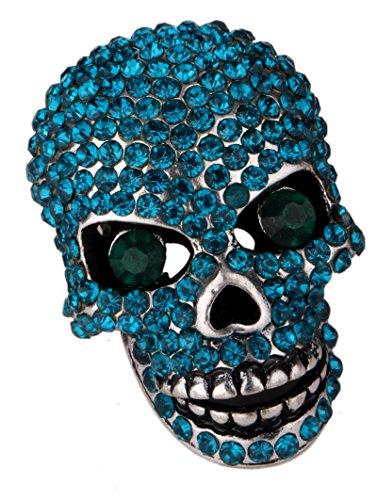 Loveangel Jewellery-anillo de cráneo de cristal elástico para mujeres