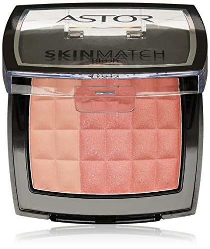 Astor SkinMatch Trio Blush, 002 Peachy Coral, Rouge 3-farbig, 1er Pack (1 x 7 g)