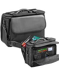 Maleta de piloto maletin de Poliéster negro con bandolera - muy fácil 38001