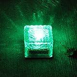 GGSSYY Solarenergie/LED/Buried Lampe/Outdoor/Wasserdicht/Stehlampe/Lawn Lamp/Home/Super Licht, das Licht und grünes Licht der Crystal Bodenfliesen