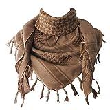 Explore Land 100% algodón Shemagh militares Desert Tactical Keffiyeh bufanda abrigo (arena)