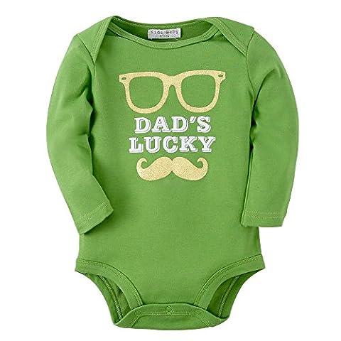 Sanlutoz Baby Jungen Kleidung Baumwoll Neugeborene Säugling Kleider Langen Ärmeln Bodys (6-12 Monate, R08 (Weihnachten Sankt Bären)