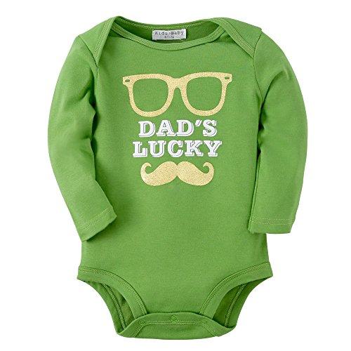 Kleidung Baumwoll Neugeborene Säugling Kleider Langen Ärmeln Bodys (0-6 Monate, R08 BEARD) (Passende Urlaub-pyjama Für Kinder)