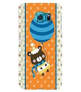 Fuson 3D Printed Cartoon Designer back case cover for Samsung Galaxy S6 - D4421