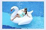 XINGMU Aquatische Schwimmen Kreis Swan Liegestuhl Auf Dem Wasser Schwimmend Weiß.