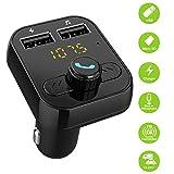 Bluetooth FM Transmetteurs Voiture MP3 Music Radio Transmetteur FM Modulator Kit de voiture Mains Libres Appel avec le port USB de charge rapide, fente pour carte TF.