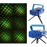 Multi 6 Pattern/Design Red & Green DJ Laser Sound Activated Light Stage Lighting, Disco Party Club Show For Xmas Party Show Club Bar Pub Wedding