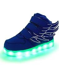 GUFAN Unisexe Enfant Chaussures de Baskets Lumineuses Led Sneaker Design de l'Aile