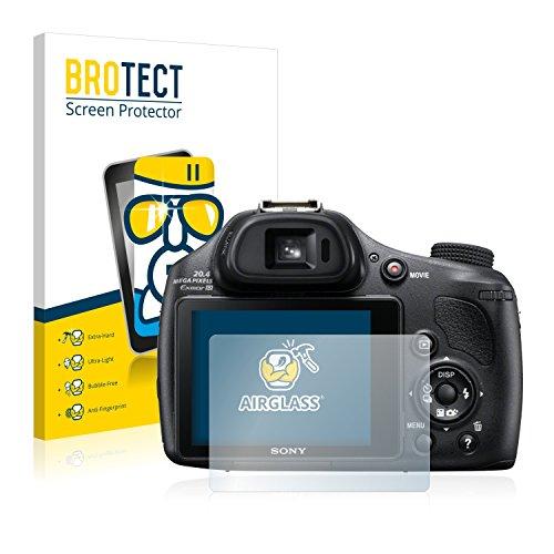 BROTECT Panzerglas Schutzfolie kompatibel mit Sony Cyber-Shot DSC-HX400V - AirGlass, 9H Härte, Anti-Fingerprint, HD-Clear