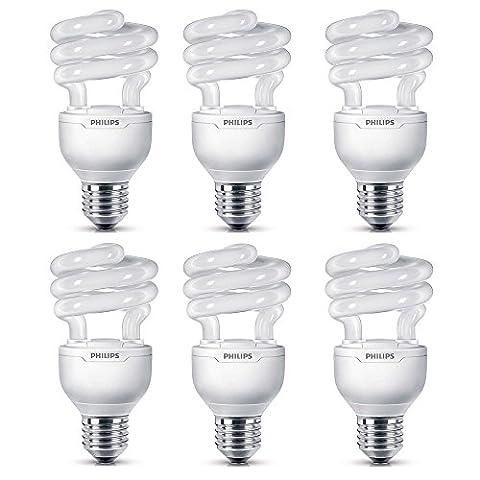 Philips Tornado 20W (88W) E27 Edison Screw CFL Light Bulbs Warm White Dimmable (6 Pack)