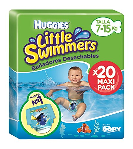 Huggies Little Swimmers - Bañadores desechables, talla 3 - 4 (7-15 kg),...