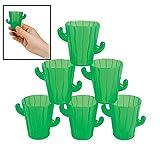 Cactus - Vasos de chupito (12 unidades) Cinco de Mayo & Vajilla de fiesta