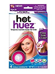 Absales Hot Huez Temporary Hair Chalk Set of 4 Colors Hues Of Temporary Compact Chalks
