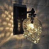 Industrielle Retro Loft Wandleuchten Schädel Glasflasche Feuer Kreative Bar Wandleuchte Moderne Wandleuchte Lampe aus Chrom, von A (Farbe : A)