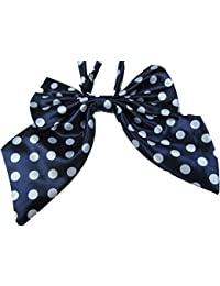 Ladies girls fashion satin bow neck tie cravat 15+ colours party fancy dress: leopard, spotted, stripes by Fat-catz-copy-catz