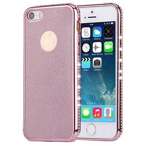 FBA-KrygerShield® Diamond Apple iPhone 6S, 6 Gel Case - Gold Gold (Glitter)