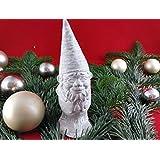 Unser kleiner Wichtel. Beton, Steinguss Figur WICHTEL Zwerg weiß patiniert. als Geschenk verpackt!