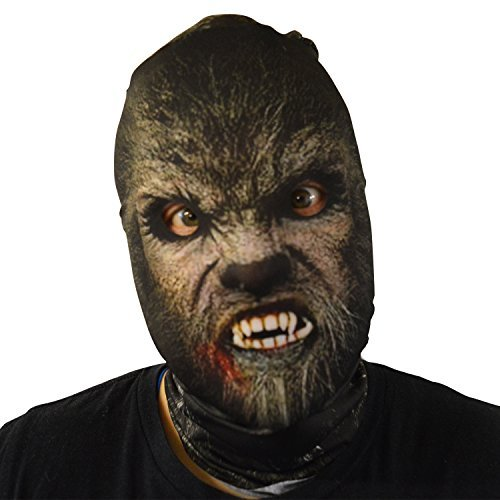 gruselig Halloween Gesichtsmaske klassisch Werwolf Design Kostüm Horror ()
