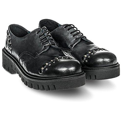 Colline Chaussures Di À Homme Ville Noir Fabbrica Pour Lacets De rnBHrW