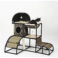 Yzibei Cómodo Árbol de Gatos de múltiples Niveles con Postes de rascado Cubiertos de sisal, hamacas y condominios, Muebles de Torre de Gato - para Gatitos, Gatos y Mascotas (Color : A)
